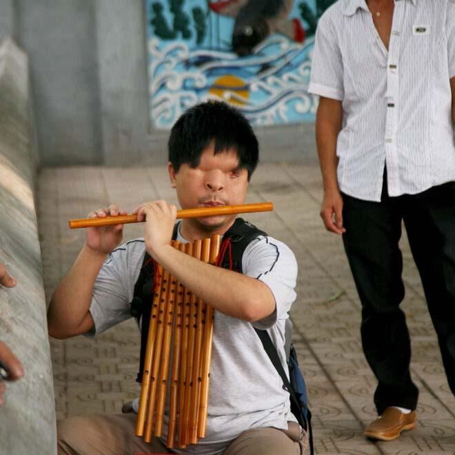 Hanoi blind musician